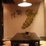 和食レストラン 壁画