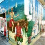 路地 壁画(ブロック塀)