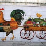 駐輪場 壁画(ブロック塀)