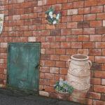 工場 壁画(ブロック塀)