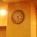 デザイン塗装 壁と時計 エイジング塗装