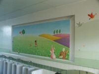 広く見せるトリック壁画