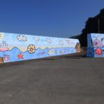 防波堤 壁画