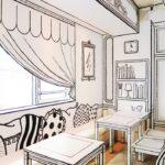 カフェ 内装 壁画