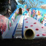 幼稚園の遊具 壁画